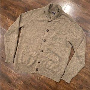 J. Crew Shawl Knit Button Cardigan Wool Blend Sz M